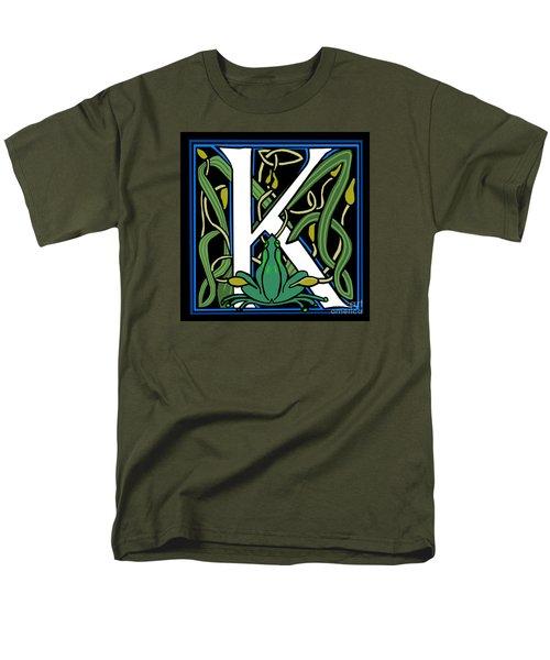 Celt Frog Letter K Men's T-Shirt  (Regular Fit) by Donna Huntriss