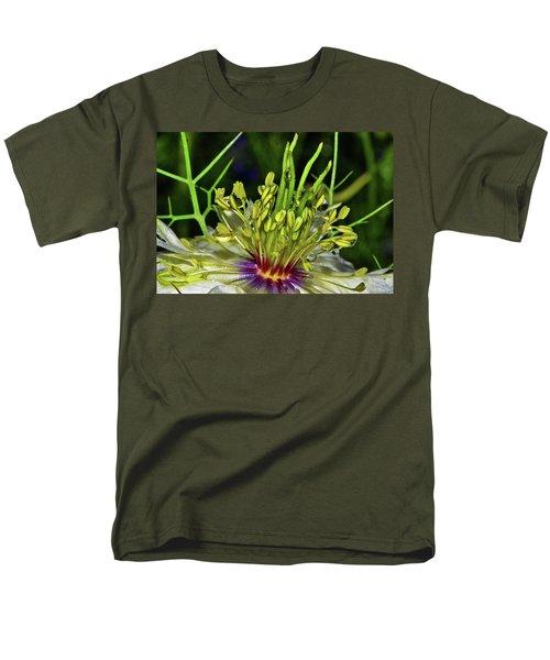 Centerpiece - Love In The Mist Macro Men's T-Shirt  (Regular Fit) by George Bostian
