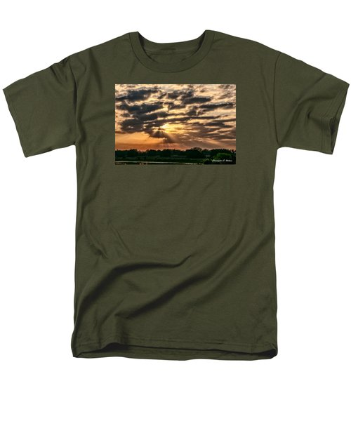 Men's T-Shirt  (Regular Fit) featuring the photograph Central Florida Sunrise by Christopher Holmes