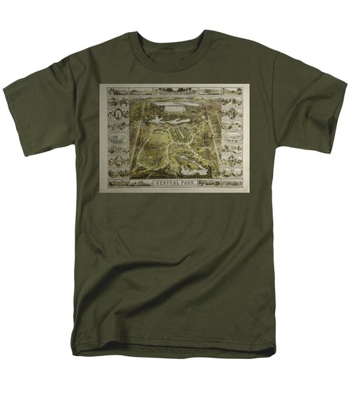 Men's T-Shirt  (Regular Fit) featuring the photograph Central Park 1863 by Duncan Pearson
