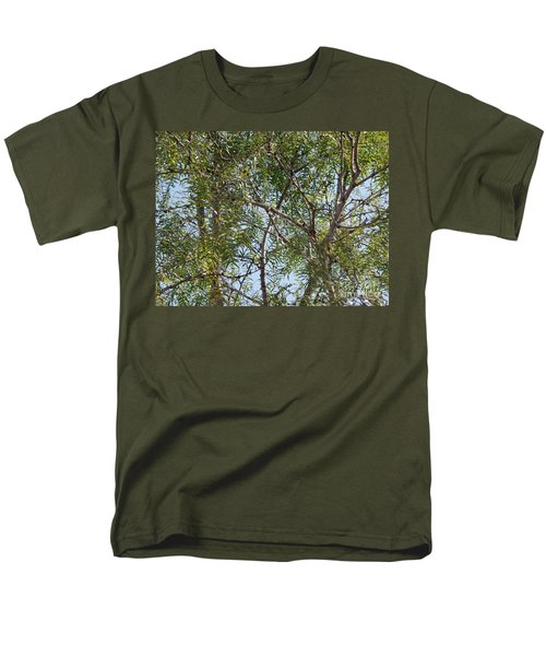 Men's T-Shirt  (Regular Fit) featuring the photograph Central Texas Sky View Through Mesquite Trees by Ray Shrewsberry