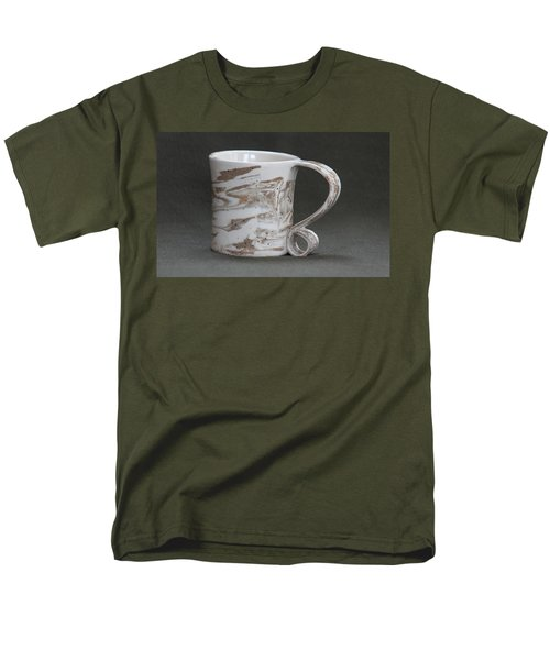 Ceramic Marbled Clay Cup Men's T-Shirt  (Regular Fit) by Suzanne Gaff