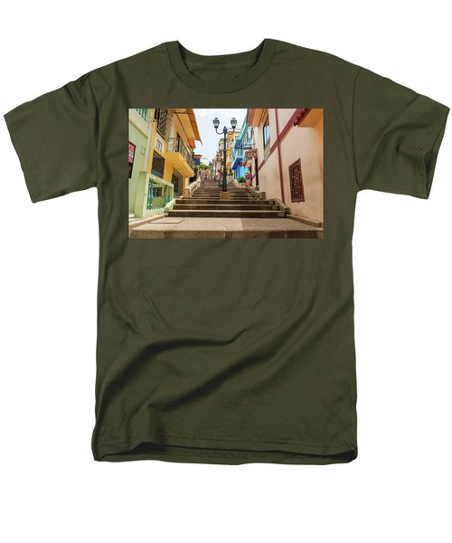 Cerro Santa Ana Guayaquil Ecuador Men's T-Shirt  (Regular Fit) by Marek Poplawski