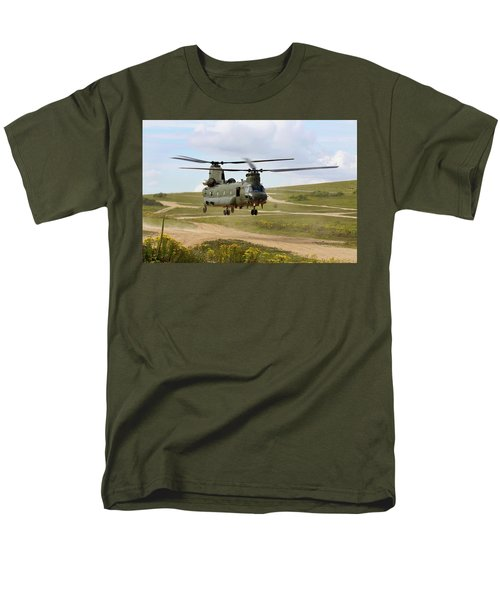 Ch47 Chinook In The Dust Bowl Men's T-Shirt  (Regular Fit) by Ken Brannen