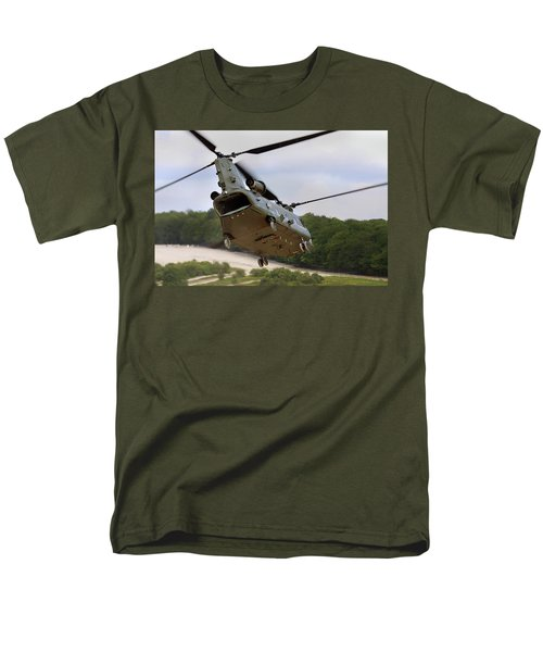 Ch47 Chinook On Manoeuvres Men's T-Shirt  (Regular Fit) by Ken Brannen