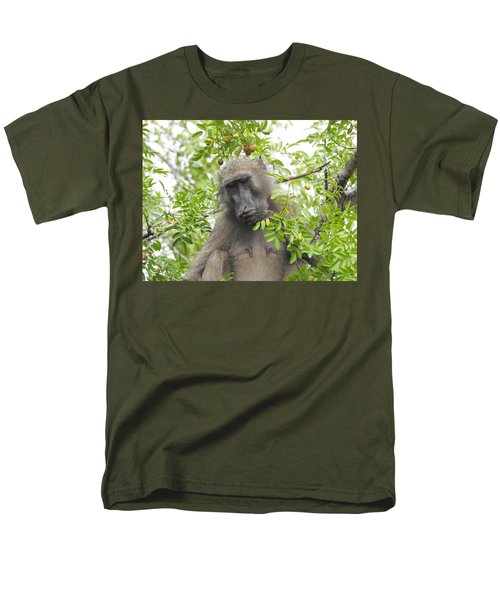 Chacma Baboon Men's T-Shirt  (Regular Fit) by Betty-Anne McDonald