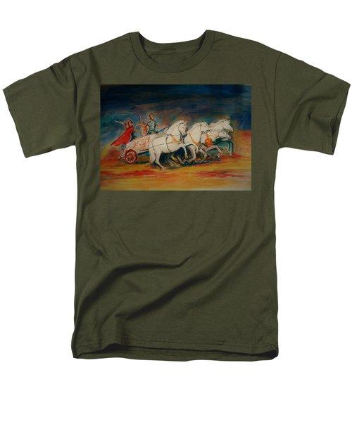 Chariot Men's T-Shirt  (Regular Fit) by Khalid Saeed