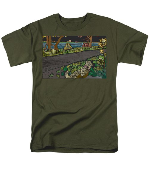 Charlie On Path Men's T-Shirt  (Regular Fit) by Kevin McLaughlin