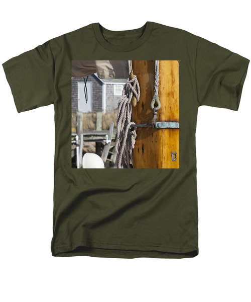 Men's T-Shirt  (Regular Fit) featuring the photograph Chatham Old Salt by Charles Harden