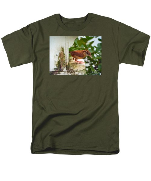 Checking Out New Digs Men's T-Shirt  (Regular Fit) by Audrey Van Tassell