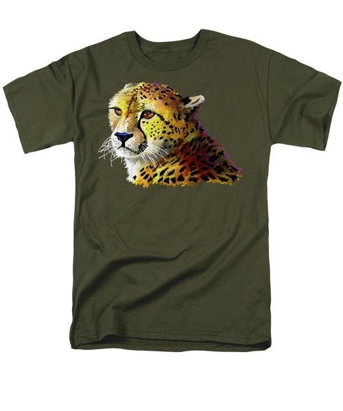 Cheetah Men's T-Shirt  (Regular Fit) by Anthony Mwangi