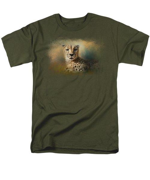 Cheetah Enjoying A Summer Day Men's T-Shirt  (Regular Fit) by Jai Johnson