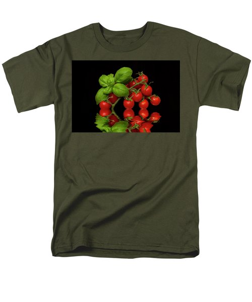 Men's T-Shirt  (Regular Fit) featuring the photograph Cherry Tomatoes And Basil by David French