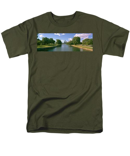 Chicago From Lincoln Park, Illinois Men's T-Shirt  (Regular Fit) by Panoramic Images
