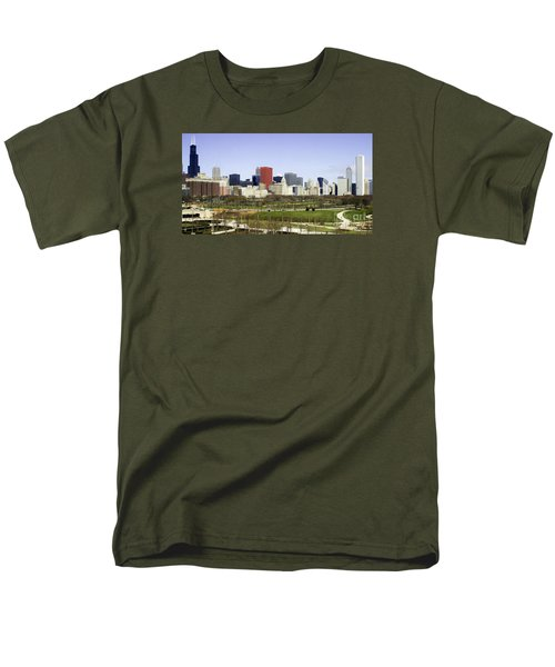 Chicago- The Windy City Men's T-Shirt  (Regular Fit) by Ricky L Jones