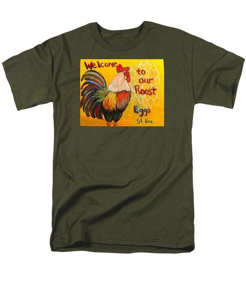 Chicken Welcome Sign 8 Men's T-Shirt  (Regular Fit)