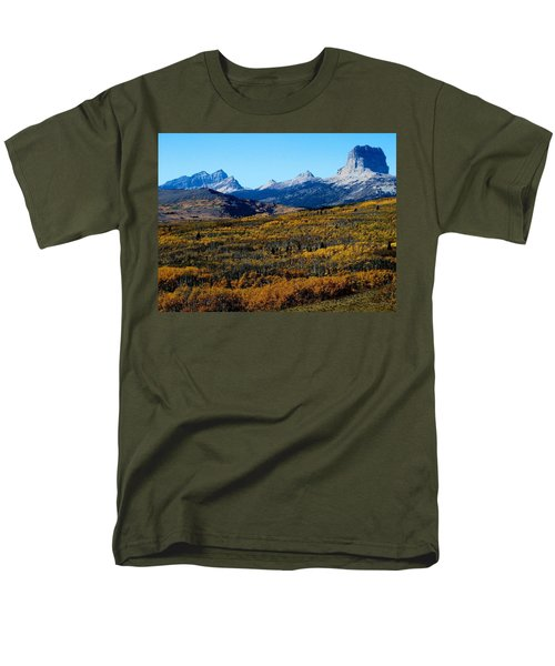 Chief Mountain In The Fall Men's T-Shirt  (Regular Fit)