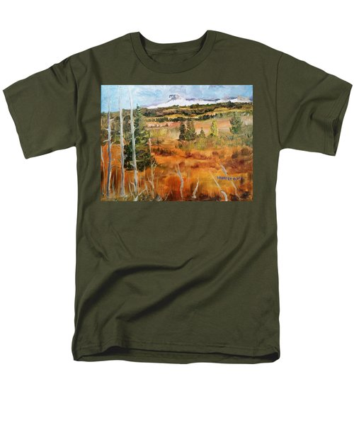 Chief Mountain Men's T-Shirt  (Regular Fit) by Larry Hamilton