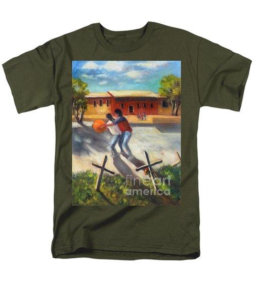 Men's T-Shirt  (Regular Fit) featuring the painting Tres Cruces De La Juventud Y La Vejez by Randol Burns