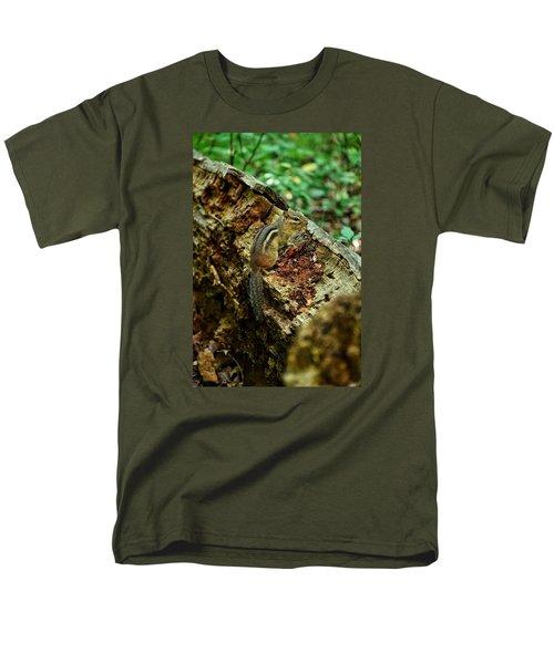Men's T-Shirt  (Regular Fit) featuring the photograph Chipmunk by Nikki McInnes