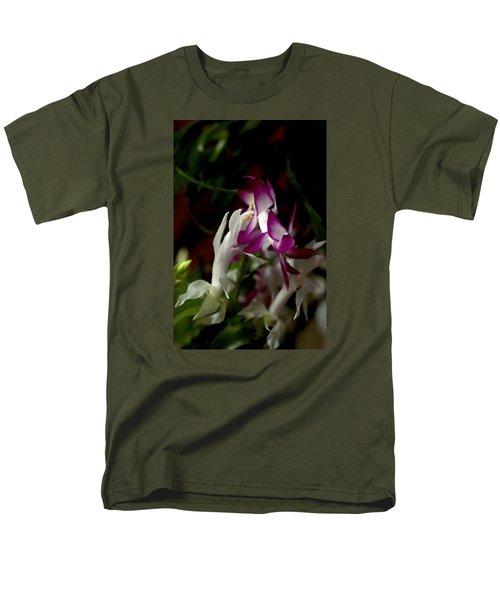 Men's T-Shirt  (Regular Fit) featuring the photograph Christmas Cactus by B Wayne Mullins