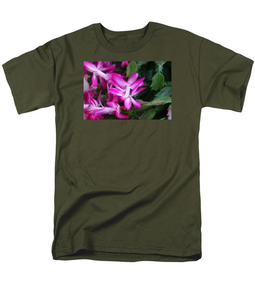 Men's T-Shirt  (Regular Fit) featuring the photograph Christmas Cactus by Joan Bertucci
