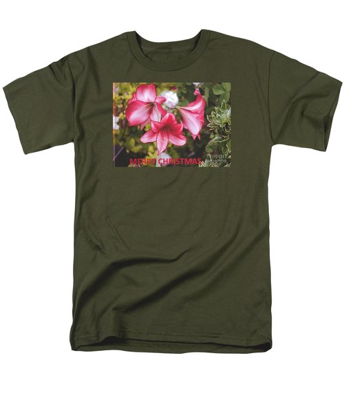 Men's T-Shirt  (Regular Fit) featuring the photograph Christmas Card - Amorillis by Rod Ismay