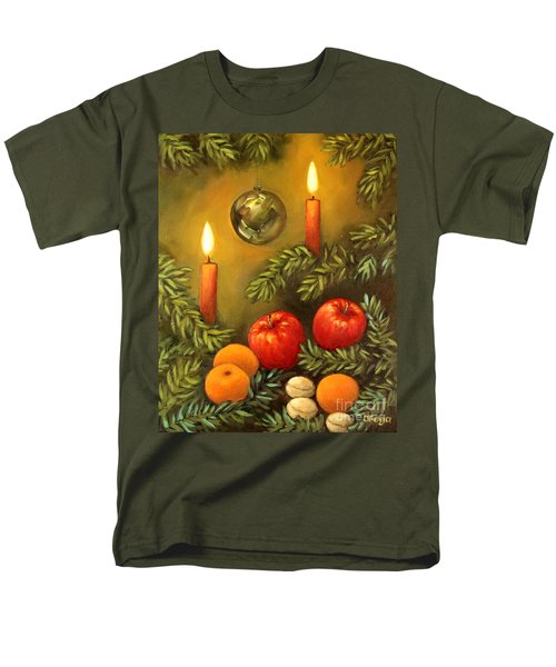 Christmas Lights Men's T-Shirt  (Regular Fit) by Inese Poga