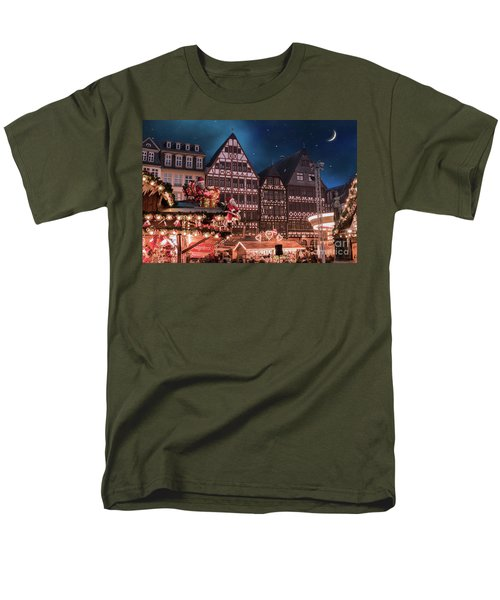 Men's T-Shirt  (Regular Fit) featuring the photograph Christmas Market by Juli Scalzi