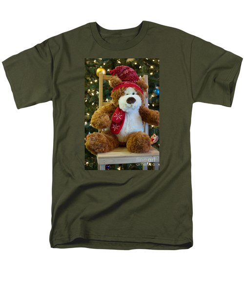Men's T-Shirt  (Regular Fit) featuring the photograph Christmas Teddy Bear by Vinnie Oakes