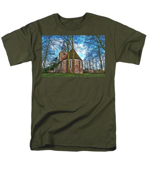 Church In Winsum Men's T-Shirt  (Regular Fit) by Frans Blok