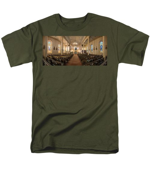 Men's T-Shirt  (Regular Fit) featuring the photograph Church Of The Assumption Of The Blessed Virgin Pano 2 by Andy Crawford