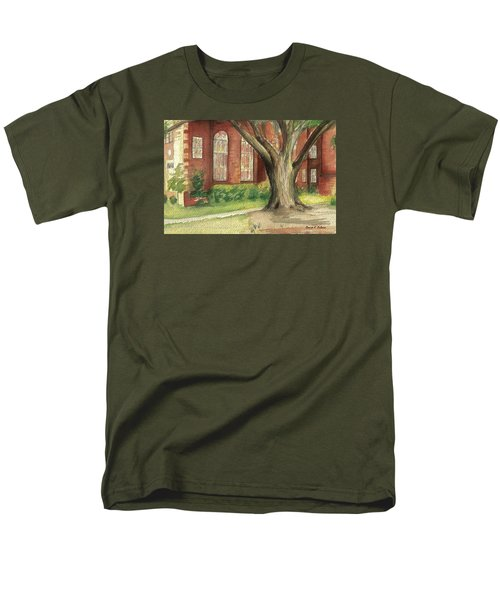 Men's T-Shirt  (Regular Fit) featuring the painting Church Tree by Denise Fulmer