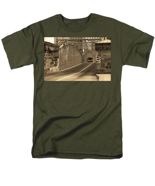 Cincinnati - Roebling Bridge 1 Sepia Men's T-Shirt  (Regular Fit) by Frank Romeo