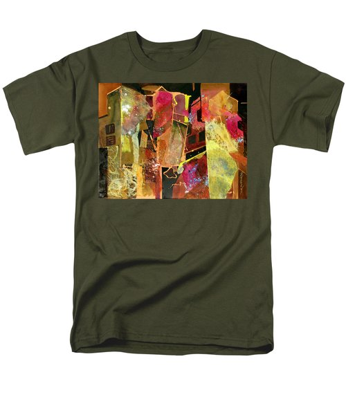 Men's T-Shirt  (Regular Fit) featuring the painting City Colors by Rae Andrews