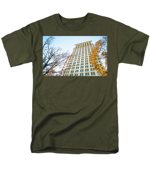 Men's T-Shirt  (Regular Fit) featuring the photograph City Federal Building In Autumn - Birmingham, Alabama by Shelby Young
