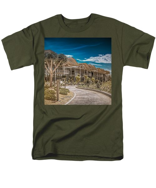 Newport Beach California City Hall Men's T-Shirt  (Regular Fit) by TC Morgan