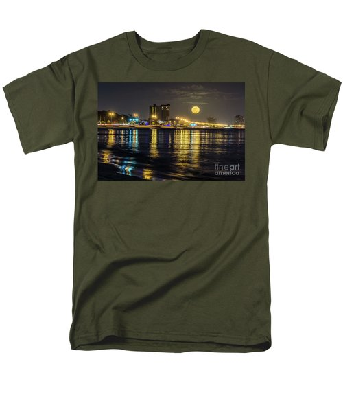 Men's T-Shirt  (Regular Fit) featuring the photograph City Moon by Brian Wright