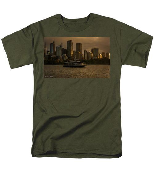 Men's T-Shirt  (Regular Fit) featuring the photograph City Skyline  by Andrew Matwijec
