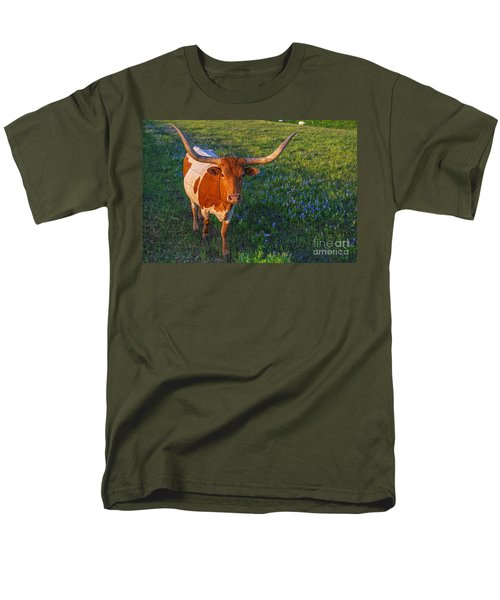 Classic Spring Scene In Texas Men's T-Shirt  (Regular Fit) by Gary Holmes