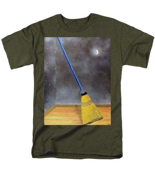 Men's T-Shirt  (Regular Fit) featuring the painting Cleaning Out The Universe by Thomas Blood