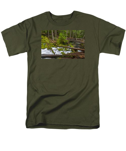 Clearwater Creek Rapids Men's T-Shirt  (Regular Fit) by Greg Nyquist