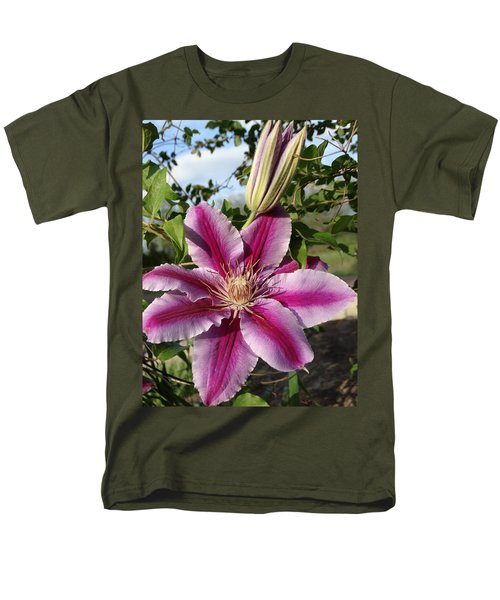 Clematis Petals Men's T-Shirt  (Regular Fit) by Rebecca Overton