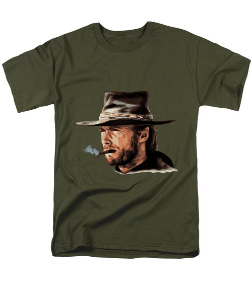 Men's T-Shirt  (Regular Fit) featuring the digital art Clint by Andrzej Szczerski