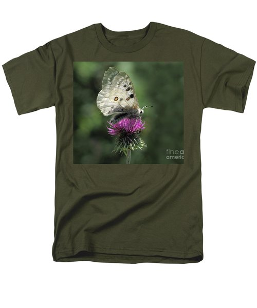 Clouded Apollo Butterfly Men's T-Shirt  (Regular Fit) by Jacqi Elmslie