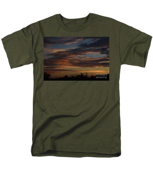 Men's T-Shirt  (Regular Fit) featuring the photograph Cloudy Kansas Evening by Mark McReynolds