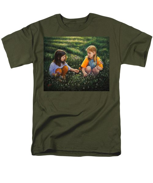 Men's T-Shirt  (Regular Fit) featuring the painting Clover Field Surprise by Glenn Beasley