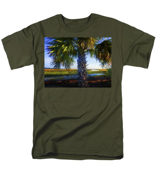 Coastal High Tide  Men's T-Shirt  (Regular Fit) by Laura Ragland