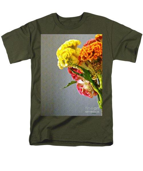 Men's T-Shirt  (Regular Fit) featuring the photograph Cockscomb Bouquet 4 by Sarah Loft
