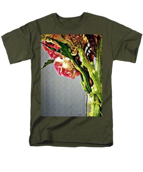 Men's T-Shirt  (Regular Fit) featuring the photograph Cockscomb Bouquet 5 by Sarah Loft